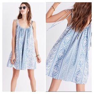 Madewell Havana Cover Up Dress Island Ikat Blue S